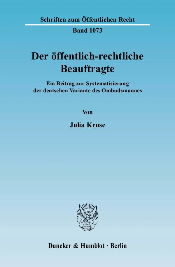 Abbildung von Kruse | Der öffentlich-rechtliche Beauftragte. | 2007