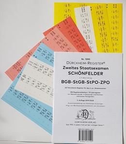 Abbildung von Dürckheim | DürckheimRegister® SCHÖNFELDER BGB-StGB-ZPO - 2. Staatsexamen Griffregister (2020) | 2. Auflage | 2019 | beck-shop.de
