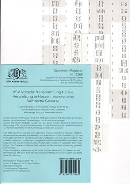 Abbildung von Dürckheim | DürckheimRegister® VSV HESSEN (2019), BOORBERG Verlag | 1. Auflage | 2019 | beck-shop.de