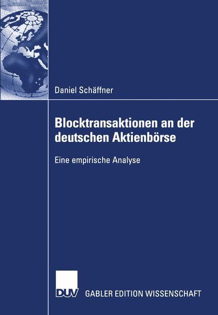 Abbildung von Schäffner | Blocktransaktionen an der deutschen Aktienbörse | 2003 | 2003