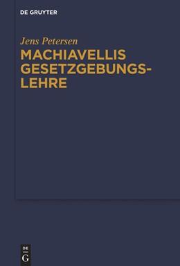 Abbildung von Petersen | Machiavellis Gesetzgebungslehre | 1. Auflage | 2020 | beck-shop.de