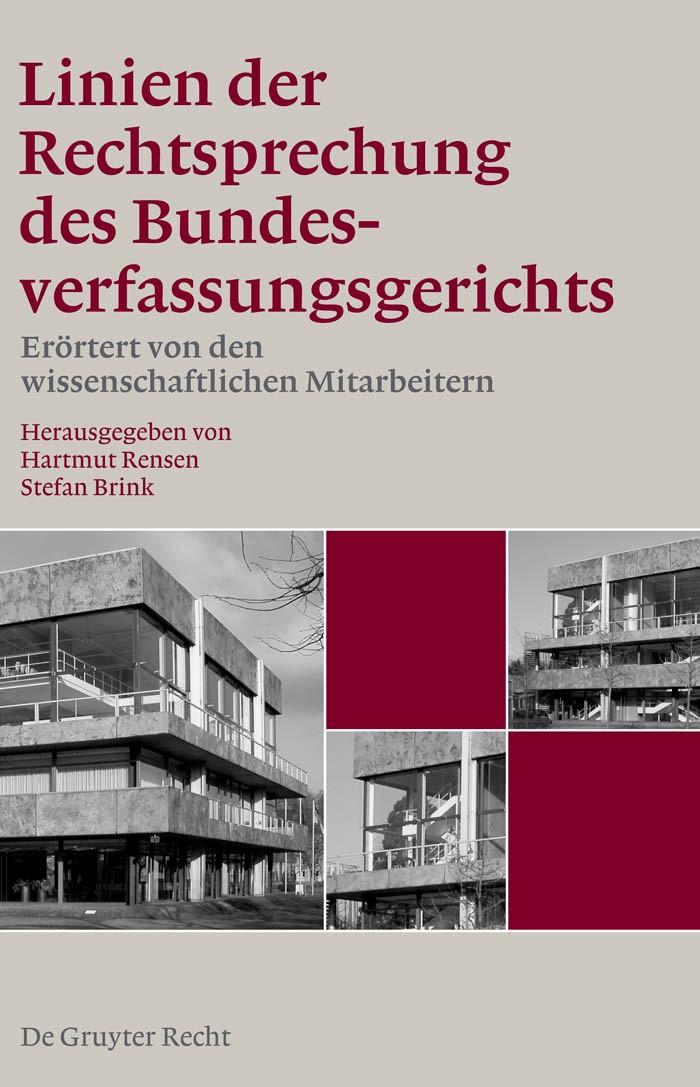 Abbildung von Rensen / Brink | Linien der Rechtsprechung des Bundesverfassungsgerichts - Band 1 | 2009