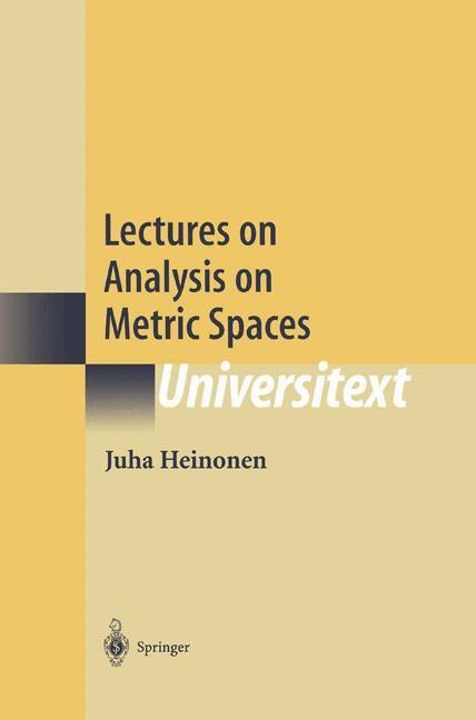 Abbildung von Heinonen | Lectures on Analysis on Metric Spaces | 2000