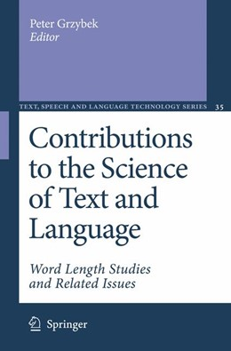 Abbildung von Grzybek | Contributions to the Science of Text and Language | 2007 | 2005