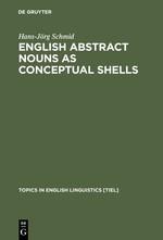 Abbildung von Schmid | English Abstract Nouns as Conceptual Shells | Reprint 2012 | 2000