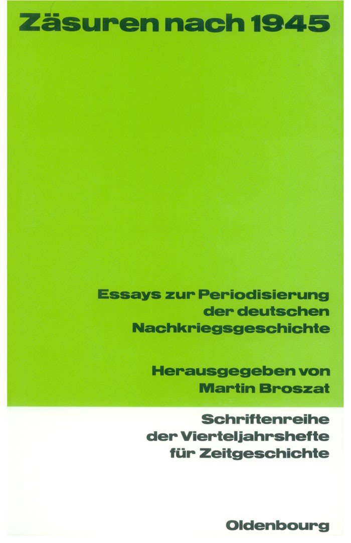 Abbildung von Broszat   Zäsuren nach 1945   1991
