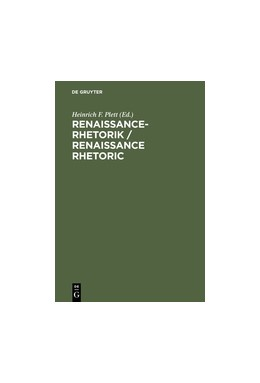Abbildung von Plett   Renaissance-Rhetorik / Renaissance Rhetoric   Reprint 2012   1993