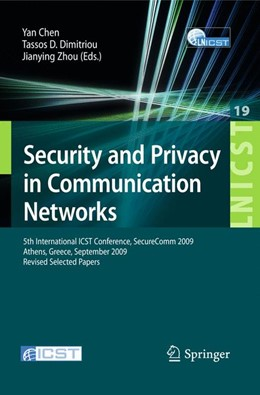 Abbildung von Chen / Dimitriou / Zhou | Security and Privacy in Communication Networks | 2009 | 5th International ICST Confere... | 19