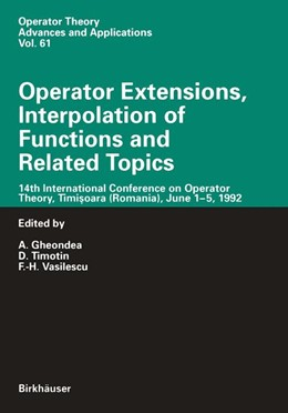 Abbildung von Gheondea / Timotin / Vasilescu | Operator Extensions, Interpolation of Functions and Related Topics | 1993 | 14th International Conference ... | 61