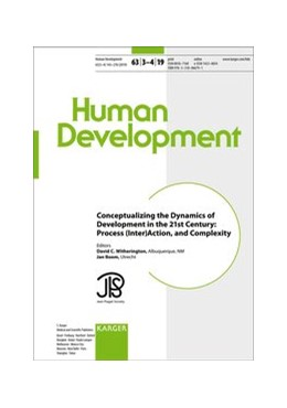 Abbildung von Witherington / Boom | Conceptualizing the Dynamics of Development in the 21st Century: Process, (Inter)Action, and Complexity | 2020 | Special Topic Issue: Human Dev...