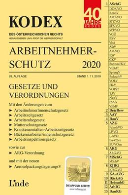 Abbildung von Marat / Doralt | KODEX Arbeitnehmerschutz 2020 | 28. Auflage 2019, Stand 1.11.2019 | 2019