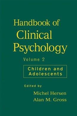 Abbildung von Hersen / Gross   Handbook of Clinical Psychology   1. Auflage   2008   Volume 2: Children and Adolesc...