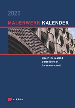 Abbildung von Jäger | Mauerwerk-Kalender 2020 | 1. Auflage | 2020 | beck-shop.de