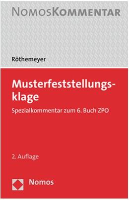 Abbildung von Röthemeyer | Musterfeststellungsklage | 2. Auflage | 2020 | Spezialkommentar zum 6. Buch Z...