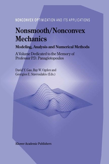 Abbildung von Yang Gao / Ogden / Stavroulakis | Nonsmooth/Nonconvex Mechanics | 2001