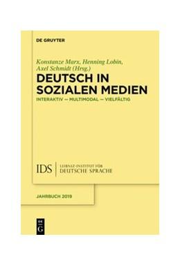 Abbildung von Marx / Lobin / Schmidt | Deutsch in Sozialen Medien | 2020 | Interaktiv - multimodal - viel...