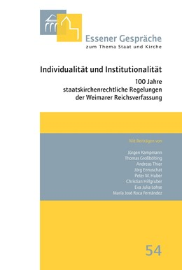 Abbildung von Schlagheck / Uhle | Essener Gespräche zum Thema Staat und Kirche, Band 54 | 2019 | Individualität und Institution...