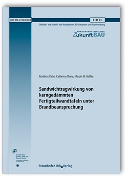 Abbildung von Pahn / Thiele | Sandwichtragwirkung von kerngedämmten Fertigteilwandtafeln unter Brandbeanspruchung. | 1. Auflage | 2019 | beck-shop.de