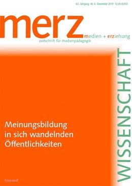 Abbildung von Demmler / Schorb   Meinungsbildung in sich wandelnden Öffentlichkeiten   1. Auflage   2019   beck-shop.de