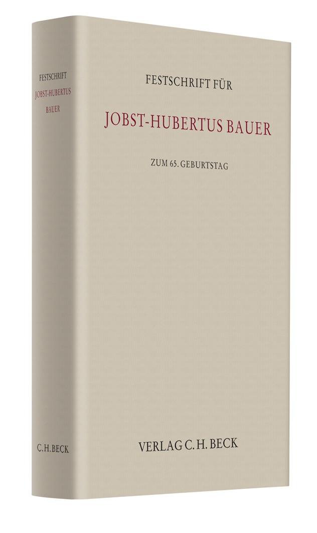 Abbildung von Festschrift für Jobst-Hubertus Bauer | 2010