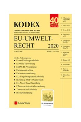 Abbildung von Doralt | KODEX EU-Umweltrecht 2020 | 16. Auflage | 2019