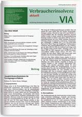 VIA • Verbraucherinsolvenz aktuell | 10. Jahrgang (Cover)