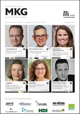 Abbildung von Fachinfo-Magazin MkG • Ausgabe 06/2019   1. Auflage   2019   beck-shop.de