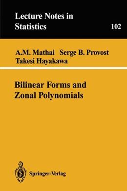 Abbildung von Mathai / Provost / Hayakawa | Bilinear Forms and Zonal Polynomials | 1995 | 102