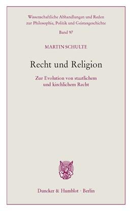 Abbildung von Schulte | Recht und Religion. | 1. Auflage | 2020 | beck-shop.de