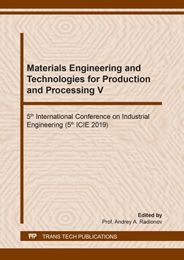 Abbildung von Radionov | Materials Engineering and Technologies for Production and Processing V | 1. Auflage | 2020 | beck-shop.de