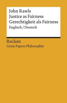 Abbildung von Rawls | Justice as Fairness / Gerechtigkeit als Fairness | 1. Auflage | 2020 | beck-shop.de
