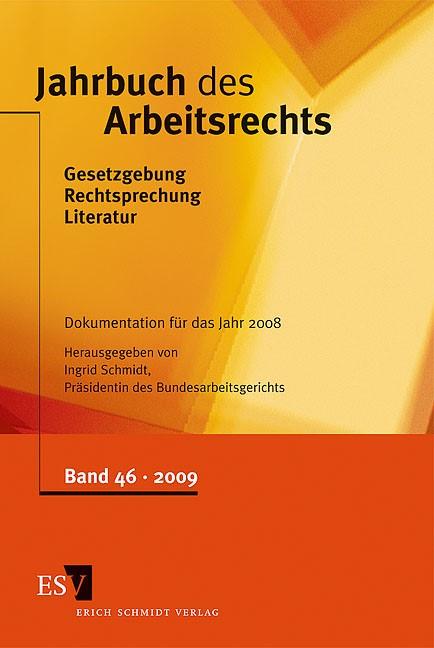 Abbildung von Schmidt | Jahrbuch des Arbeitsrechts | 2009
