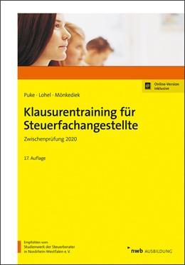 Abbildung von Puke / Lohel | Klausurentraining für Steuerfachangestellte | 17. Auflage | 2020 | beck-shop.de