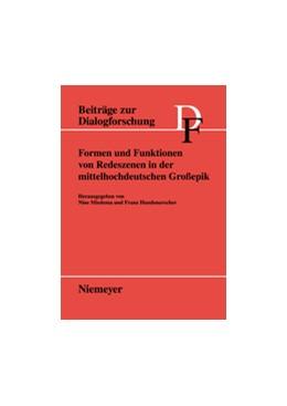 Abbildung von Miedema / Hundsnurscher | Formen und Funktionen von Redeszenen in der mittelhochdeutschen Großepik | 2007 | 36