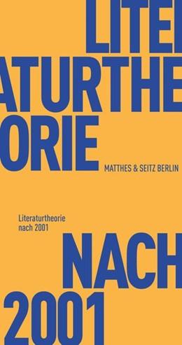 Abbildung von Literaturtheorie nach 2001 | 1. Auflage | 2020 | beck-shop.de