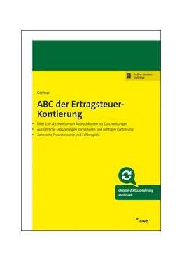Abbildung von Cremer | ABC der Ertragsteuer-Kontierung | 1. Auflage | 2019 | beck-shop.de