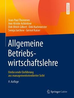 Abbildung von Thommen / Achleitner | Allgemeine Betriebswirtschaftslehre | 9. Auflage | 2020 | beck-shop.de