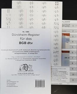 Abbildung von Dürckheim   Dürckheim-Register - BGB dtv & Palandt   8. Auflage   2020   beck-shop.de