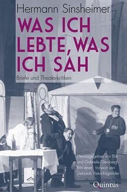 Abbildung von Sinsheimer / Vietor-Engländer | Was ich lebte, was ich sah | 1. Auflage | 2020 | beck-shop.de
