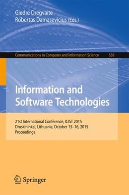Abbildung von Dregvaite / Damasevicius | Information and Software Technologies | 2015 | 21st International Conference,...