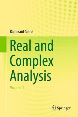 Abbildung von Sinha   Real and Complex Analysis   1. Auflage   2018   beck-shop.de