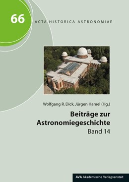 Abbildung von Dick / Hamel   Beiträge zur Astronomiegeschichte   2019   Band 14