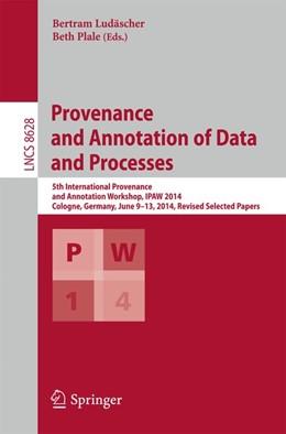 Abbildung von Ludäscher / Plale   Provenance and Annotation of Data and Processes   1. Auflage   2015   beck-shop.de