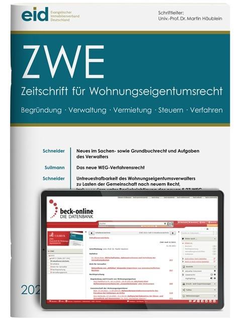 ZWE • Zeitschrift für Wohnungseigentumsrecht | 19. Jahrgang (Cover)