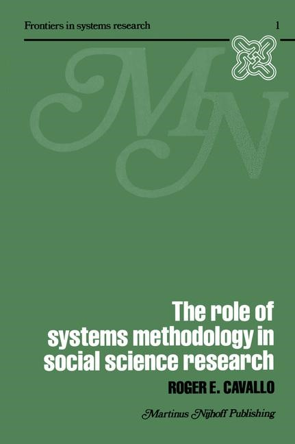 Abbildung von Cavallo   The Role of Systems Methodology in Social Science Research   1979