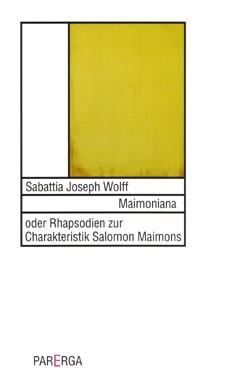 Abbildung von Wolff   Maimoniana   2003