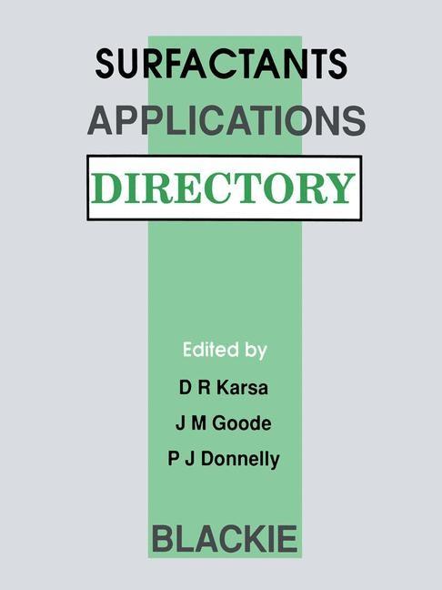 Abbildung von Karsa / Donnelly / Goode | Surfactants Applications Directory | 1991