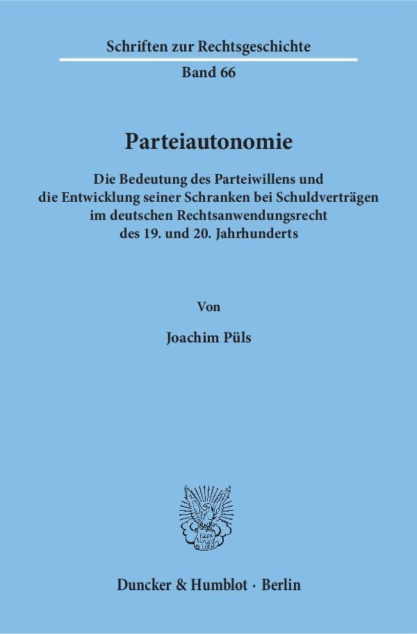 Abbildung von Püls | Parteiautonomie. | 1996
