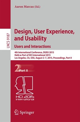 Abbildung von Marcus | Design, User Experience, and Usability: Users and Interactions | 2015 | 4th International Conference, ...