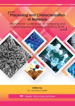 Abbildung von Mallik | Processing and Characterization of Materials | 2020 | Volume 978